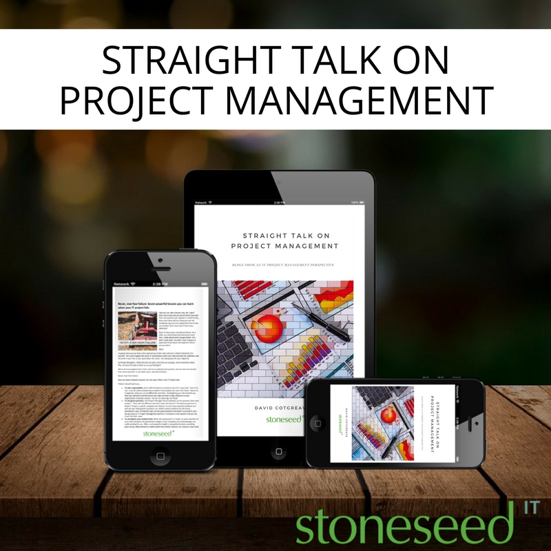 straight talk on project management