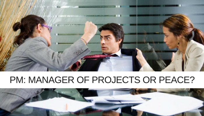 Are you the manager of projects or peace?