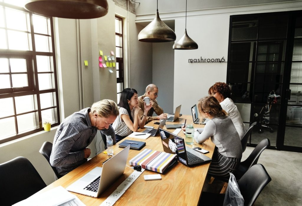 project team working to become more productive